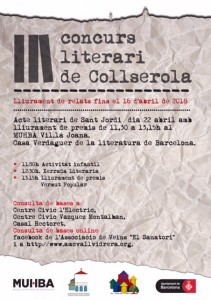 Cartell 3er Concurs Literari de Collserola